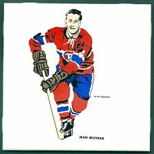 1962-63 H.M.Cowan Ceramic Tile's Canadiens' Jean Beliveau, Mint