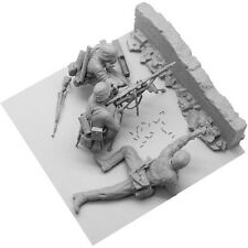 [SOL Model] MM194, 1/16 WWII German MG34 Team (with brick wall)