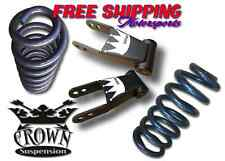 "Crown Suspension 2015-2018 Ford F150 2""-2"" Drop Lowering Coil Shackle Kit USA"
