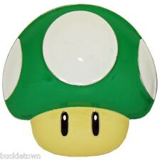 Super Mario Buckle Pilz Nintendo grün 1Up Gürtelschnalle Superheld Metall