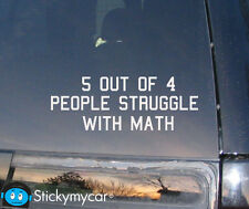math struggle funny decal sticker car trader school bumper vinyl custom finder