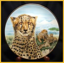 The Kensington Collection - The Wild Cats - Cheetah - No. 1123 - Collector Plate