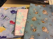 "3 pcs cotton fabric from America. 19.5x21.5"",13.5x22"".19x22"".Pack 1."