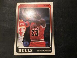 1988-89 Fleer Michael Jordon No.17 Basketball Card Bulls