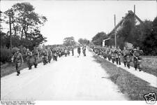 German Army Soldiers Road Arnhem Holland 1944 World War 2 Reprint Photo 6x4 Inch