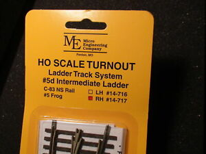 Micro Engineering 14-717 HO Code 83 #5d Intermediate Right Hand Switch Turnout