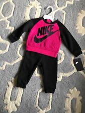 Nike Baby Girl Size 12 Month Long Sleeve Jogging Set NWT Pink/Black