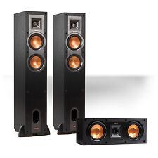 Klipsch R24F Reference Floorstanding Speaker Pair w/ R25C Center Speaker (Black)