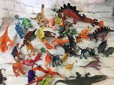Vintage Dinosaurs Lot of 50 Mini Figures Rubber/ Plastic
