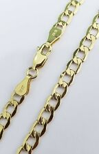 Mens Hollow 10K Yellow Gold 5 MM Cuban Curb Link Chain Necklace 22 Inches Unisex
