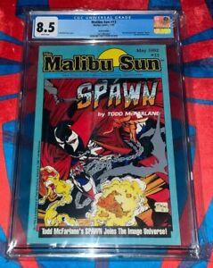 Malibu Sun #13 ERROR EDITION CGC 8.5 TODD MCFARLANE 🔥🔥