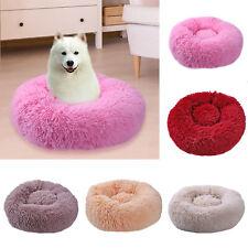 Pet Dog Cat Calming Bed Round Nest Warm Soft Plush Comfortable Self Sleeping CZ