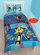Transformers Disfraz individual duvet cover quilt Niños Chicos Reversible Cama Set