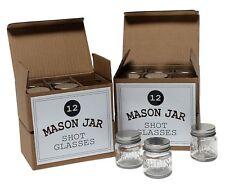 Mason Jar 2 Ounce Shot Glasses Set of 48 With Leak-Proof Lids - Great For Shots,
