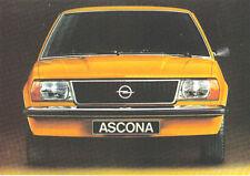 Opel Ascona B 1.6 1.9 DeLuxe SR 1975-76 Original UK Market Sales Brochure