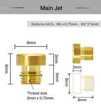 10Pcs Carburetor Main Jets Dellorto 6413 M6x0.75mm #66-#155 For PHBH PHBL PHBE