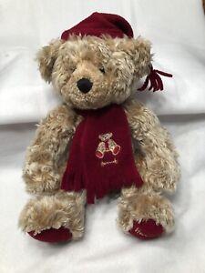 Harrod's Collectible1999 Annual Teddy Bear 18 in Golden Brown w/ Burgundy Trim