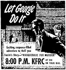* LET GEORGE DO IT (OTR) OLD TIME RADIO SHOWS * 186 EPISODES on MP3 DVD *