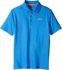 T-shirts et hauts bleus Under armour polyester pour garçon de 2 à 16 ans
