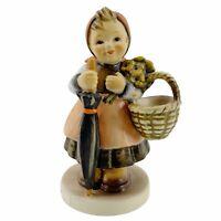 M I Hummel Goebel ON HOLIDAY Porcelain Figurine Germany Mold 350 TMK 6