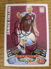 """2011/2012 AUTOGRAFO: Aston Villa-Collins, James [firmato a mano """"TOPPS MATCH atta"""