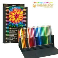 50 Colours! CHAMELEON Coloured Tones Pencils + Storage Case Colouring Books