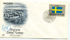 United Nations #414 Flag Series 1983, Sweden, ArtCraft, Fdc
