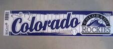 "Colorado Rockies Bumper Sticker 3"" X 12"" New By Wincraft MLB Licensed"