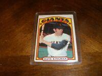 1972 TOPPS DAVE KINGMAN ROOKIE RC SAN FRANCISCO GIANTS CARD #147 -GM603