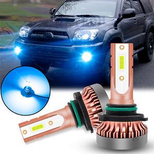 For Toyota Tundra 4Runner Corolla Prius LED Fog Light Bulbs 8000K Ice Blue 9006