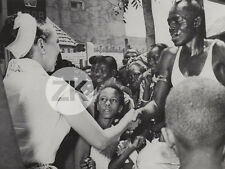 JOSEPHINE BAKER Afrique SENEGAL Foule Photo 1957