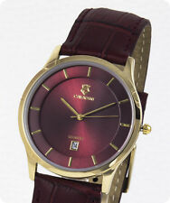 Buisiness Cavadini-Serie Yukon Gold Plated Men's Watch Wine Red Box Issues 2018