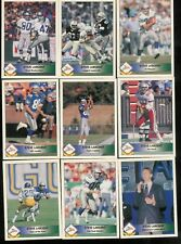 1992 PACIFIC FOOTBALL STEVE LARGENT INSERT SET 1-9