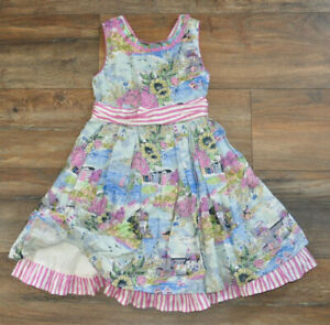 Monsoon Girls Sleeveless Floral Dress 6 Years 100% Cotton Summer Holiday