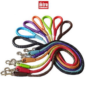 Miro Makauri Dog Rope Lead Premium Rubber Handle Reflective 110cm Strong Durable