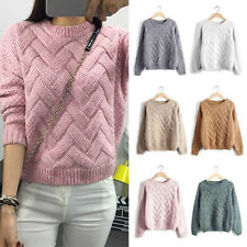 Winter Women Long Sleeve Warm Knitted Pullover Loose Sweater Jumper Top DAZ