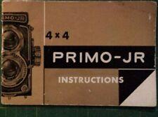 PRIMO JR 4x4 Camera Instructions Manual
