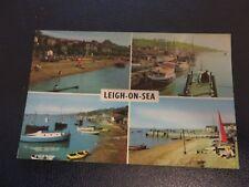 Postcard 1971. 4 views of Leigh on Sea, Essex