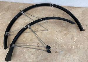 Pair Of Black SKS Bicycle Mudguards, Plastic. #3215