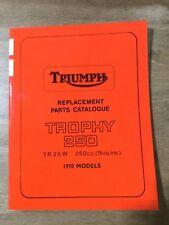 Triumph Replacement Parts Catalogue 1970 Trophy 250 TR25W 99-0906 [3-41]