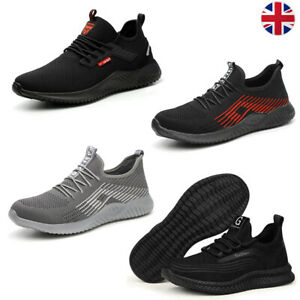 Mens Work Shoes Lightweight Safety Trainers Steel Toe cap Women Hiking boots UK