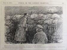 WW1 1916 Sentry sul primo passo nelle trincee PUNCH CARTOON 12A aprile