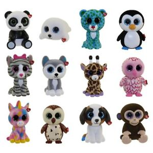 SET of 12 Ty Beanie Boos Mini Boo Hand Painted Collectible Series 1 Figurines