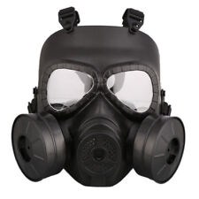 Double Filter Fan CS Edition Gas Mask Perspiration Dust Eye Protect Face Guard