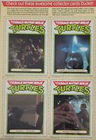 Ralston 1990 Teenage Mutant Ninja Turtles Cereal Empty Cut Front/Back Cards