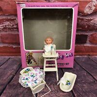 Vintage Sears Fashion Doll Nursery Baby Sitting Set Hong Kong Baby Accessories