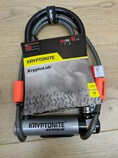 Kryptonite Kryptolok Bike Cycle Bicycle U-Lock With 4 Foot Kryptoflex Cable