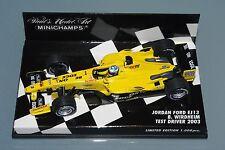 Minichamps F1 1/43 JORDAN FORD EJ13 - B. WIRDHEIM TEST DRIVER 2003 - Ltd.Ed.1008