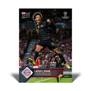 2021 Topps Now UCL UEFA #56 Leroy Sane FC Bayern Munchen PRESALE