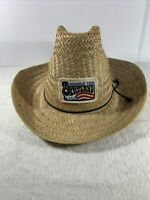 Vintage Straw Cowboy Hat OPRYLAND NASHVILLE TENN USA Patch Country Music VGUC